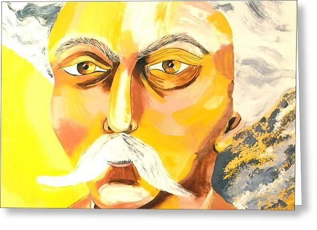 GABRIEL FAURE portrait Greeting Card by Preciada Azancot