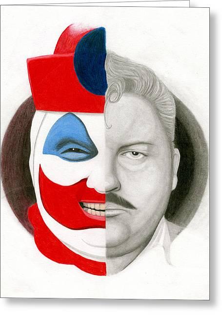 Killer Clown Greeting Cards - Gacy the Clown Greeting Card by Kris Milo