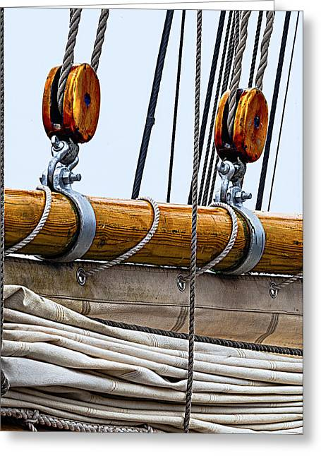 Recently Sold -  - Schooner Greeting Cards - Gaff and Mainsail Greeting Card by Marty Saccone