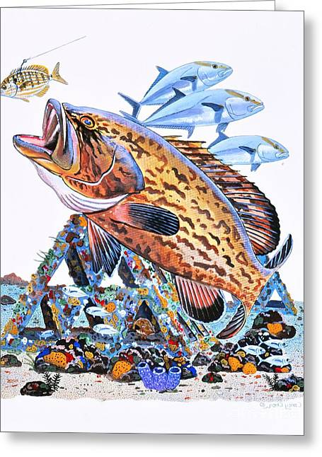 Gag Grouper Greeting Card by Carey Chen