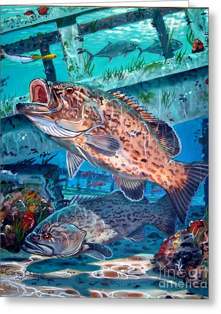 Gag Grouper In0030 Greeting Card by Carey Chen