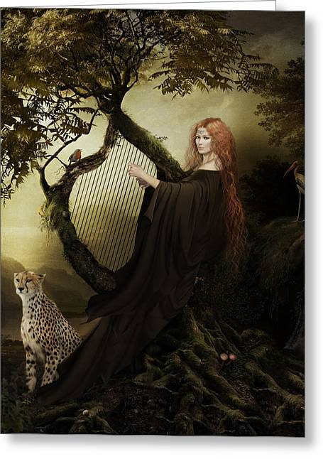 Gaia Greek Goddess Greeting Card by Shanina Conway