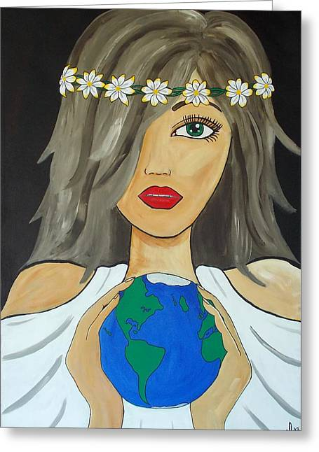 Gaia Greeting Cards - Gaia Greeting Card by Melanie Hamm