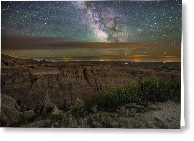 Galactic Greeting Cards - Galactic Pinnacles Greeting Card by Aaron J Groen