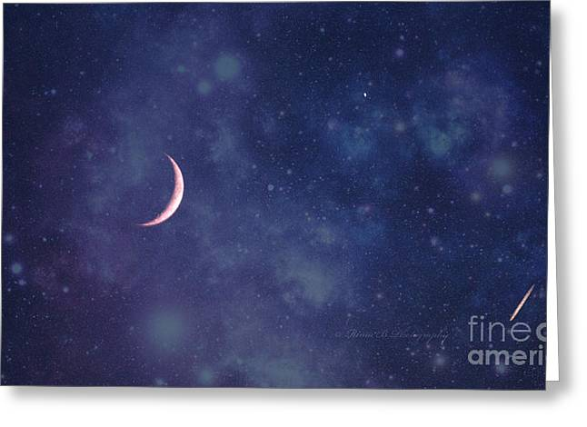 Book Cover Art Greeting Cards - Galactic show Greeting Card by Rima Biswas