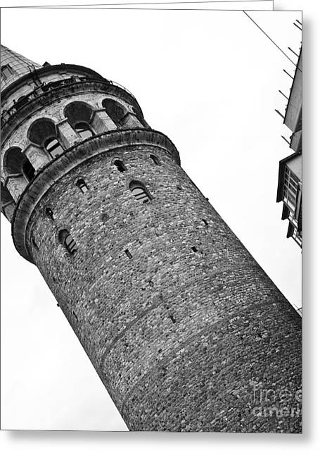 Galata Tower 01 Greeting Card by Rick Piper Photography