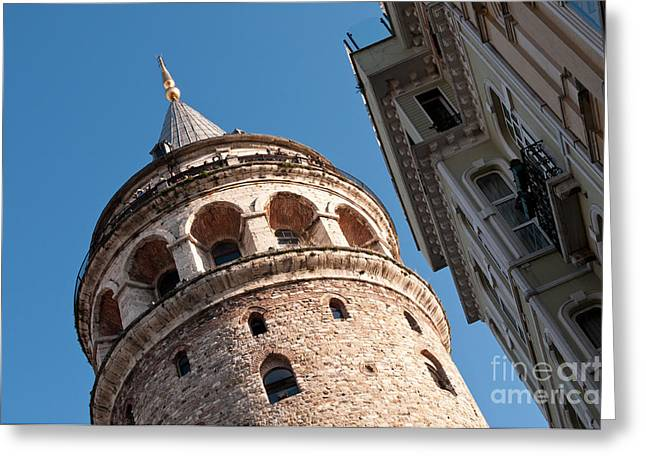 Galata Tower 04 Greeting Card by Rick Piper Photography