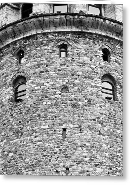 Galata Tower Arches 01 Greeting Card by Rick Piper Photography