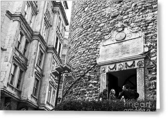 Galata Tower Entry 02 Greeting Card by Rick Piper Photography