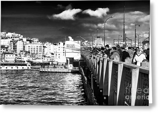 Galata Greeting Cards - Galata View Greeting Card by John Rizzuto