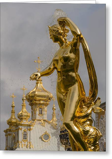 Galatea Greeting Cards - Galatea  Peterhof Grand Palace Greeting Card by Ludmila Nayvelt