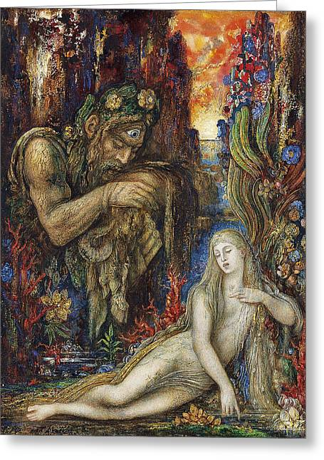 Gustave Moreau Greeting Cards - Galathea Greeting Card by Gustave Moreau