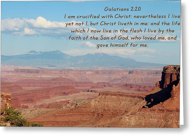 Kingjames Greeting Cards - Galatians 2-20 Canyonlands NP Greeting Card by Nelson Skinner