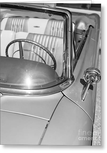 Steering Greeting Cards - Galaxie 500 Convertible Greeting Card by Edward Fielding