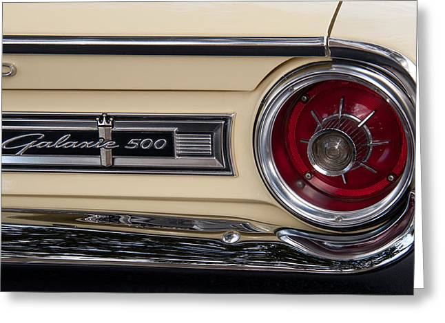 1963 Ford Greeting Cards - Galaxie 500 Greeting Card by John Black