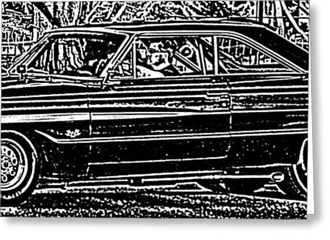 1963 Ford Greeting Cards - Galaxie 500 Greeting Card by Thomas  MacPherson Jr