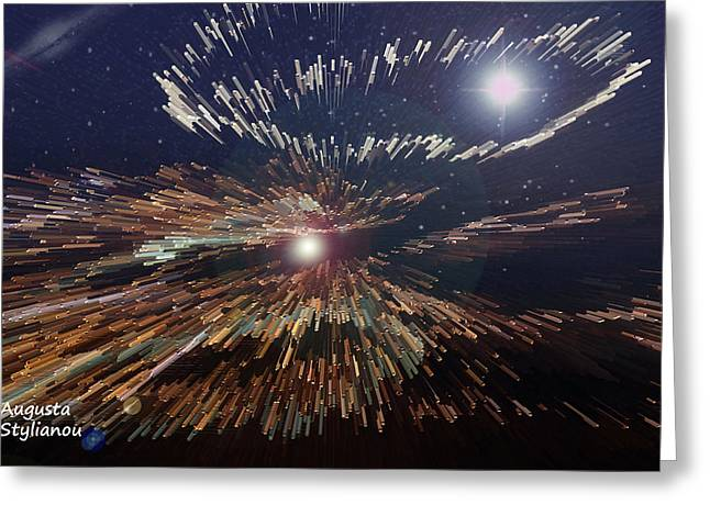 Galaxies Light Greeting Card by Augusta Stylianou
