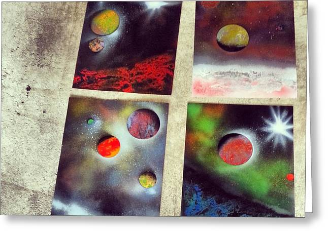 Technical Paintings Greeting Cards - Galaxy Art Greeting Card by Vince Ricci