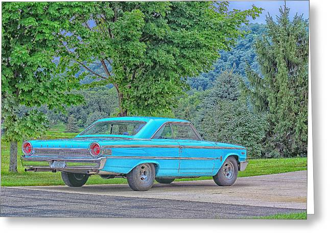 1963 Ford Greeting Cards - Galaxy Dreamin Greeting Card by Patsy Petersen