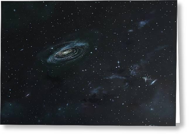 Galaxy Greeting Card by Ken Ahlering