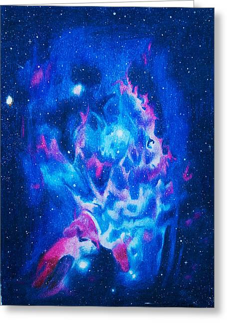 Super Stars Drawings Greeting Cards - Galaxy Greeting Card by Lydia Smith
