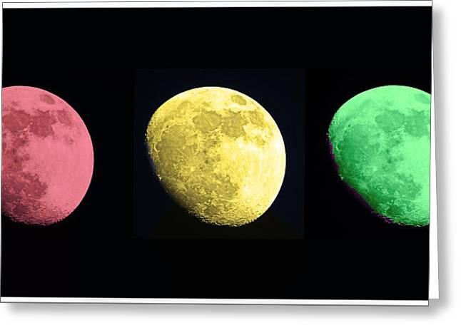 Man In The Moon Greeting Cards - Galaxy Stop Light Greeting Card by Tom Gari Gallery-Three-Photography