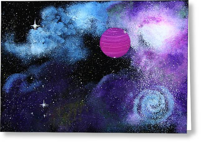 Outer Space Glass Greeting Cards - Galaxy Greeting Card by Wolfgang Finger