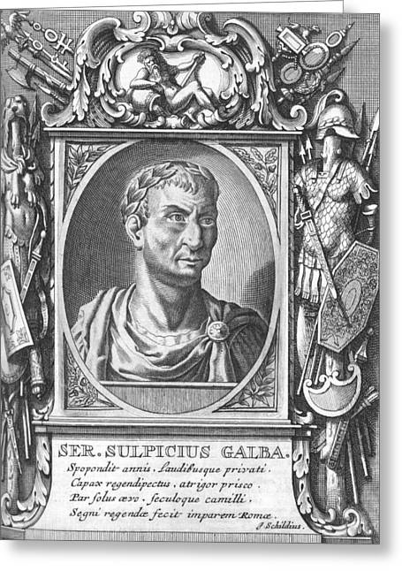 Pages Of Life Photographs Greeting Cards - Galba, Roman emperor Greeting Card by Science Photo Library