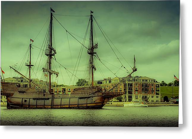 Pirate Ships Greeting Cards - Galeon Greeting Card by Michael Sage Friean