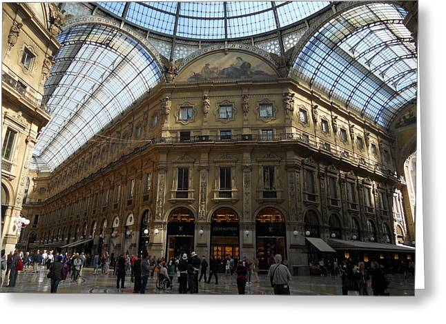 Galeria Greeting Cards - Galeria in Milan Greeting Card by Dotti Hannum