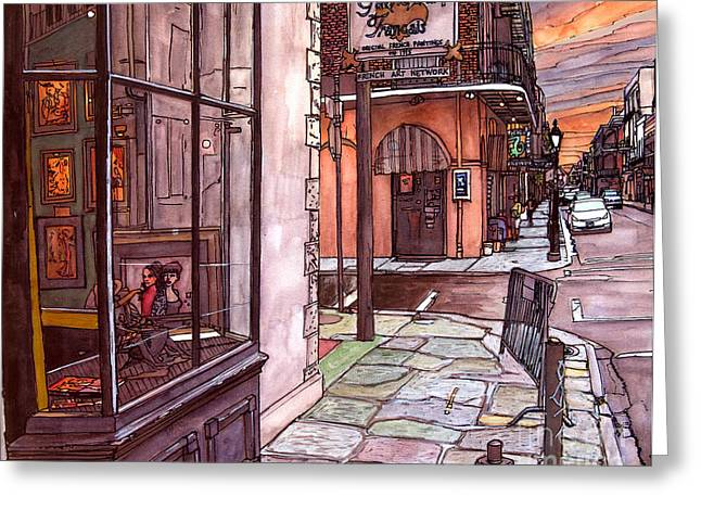 French Quarter Doors Greeting Cards - Galerie d Art Francais Greeting Card by John Boles