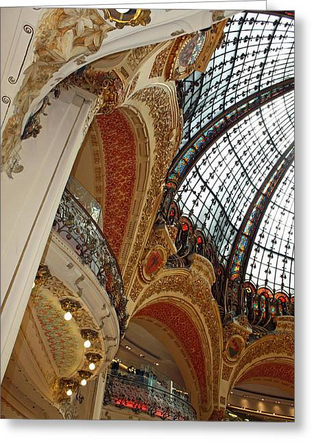 Architecture Framed Prints Greeting Cards - Galeries Lafayette Greeting Card by Kathy Yates