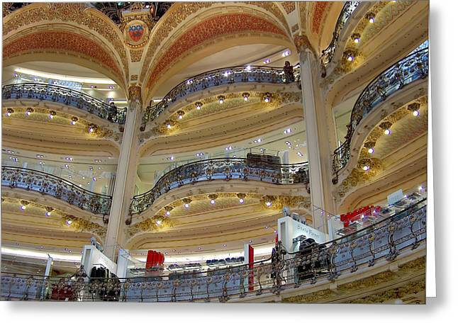 Greeting Cards - Galeries Lafayette Greeting Card by Paris  France