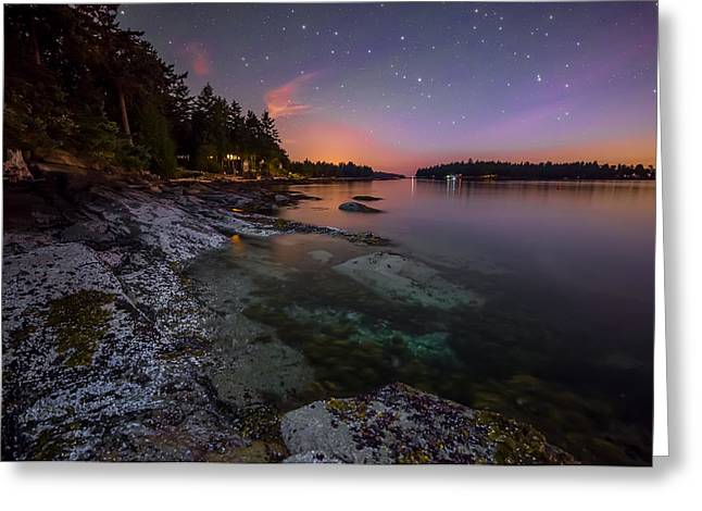 Twinkle Greeting Cards - Galiano Shore Greeting Card by James Wheeler