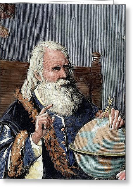 Galileo Galilei (1564-1642 Greeting Card by Prisma Archivo