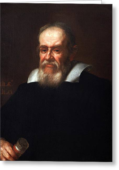 Galileo Galilei After Justus Sustermans Greeting Card by Bodleian Museum/oxford University Images