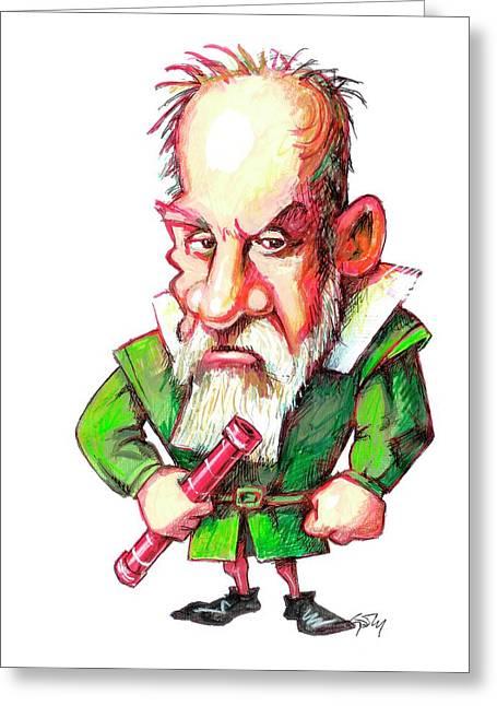 Galileo Galilei Greeting Card by Gary Brown