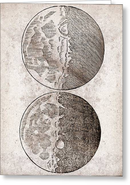 Galileo's Moon Observations Greeting Card by Middle Temple Library