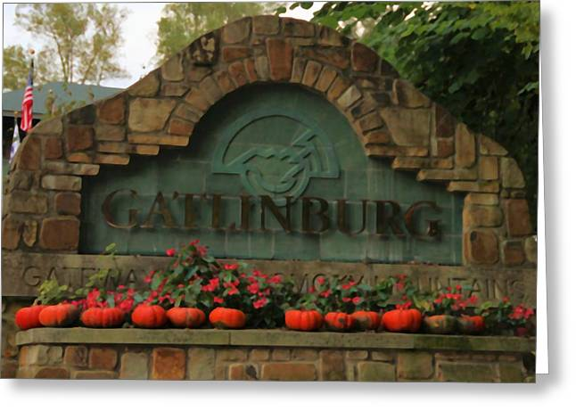 Gatlinburg Tennessee Photographs Greeting Cards - Galinburg In Autumn Greeting Card by Dan Sproul