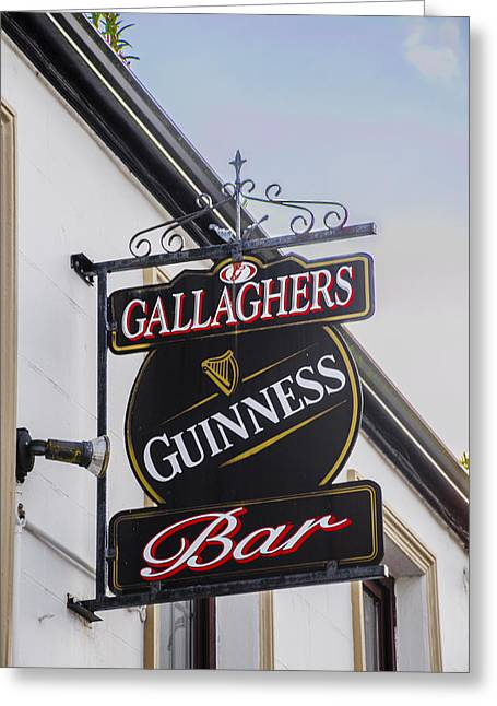 Sligo Greeting Cards - Gallaghers Pub - Aclare County Sligo Ireland Greeting Card by Bill Cannon