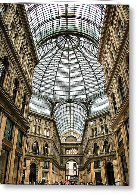Southern Italy Greeting Cards - Galleria Naples Italy Greeting Card by Xavier Cardell