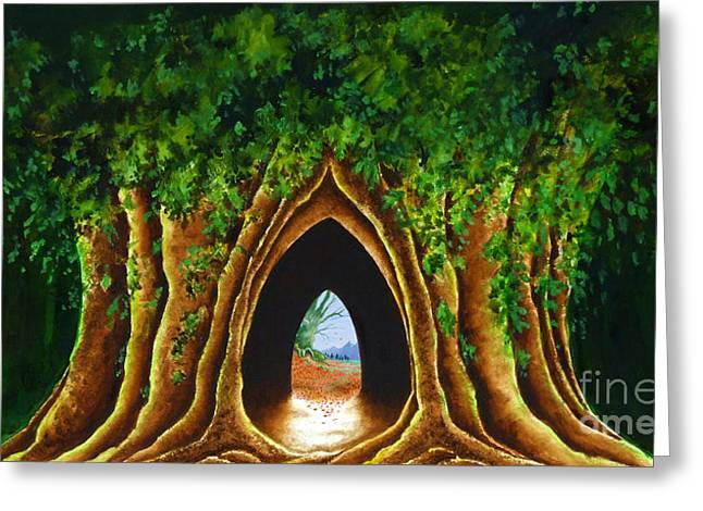 Ent Greeting Cards - Gallery Banner Greeting Card by Gordon Palmer