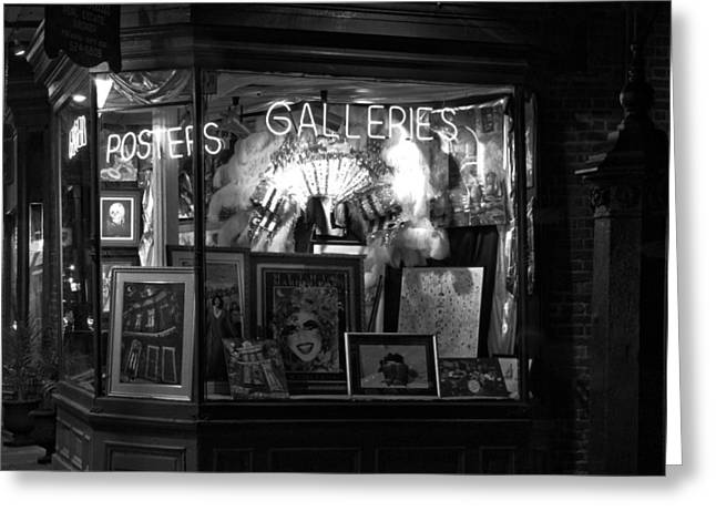 Window Display Greeting Cards - Gallery on Royal Street Greeting Card by Greg Mimbs