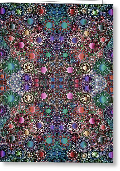 Opposing Forces Greeting Cards - Gallimaufry mirrored version 21 Greeting Card by Devin  Cogger