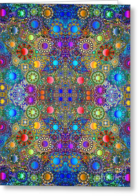 Opposing Forces Greeting Cards - Gallimaufry mirrored version 4 Greeting Card by Devin  Cogger