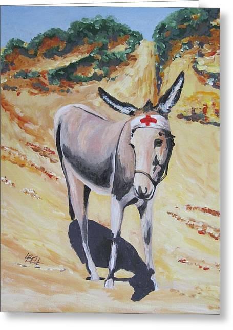 Gallipoli Donkey Greeting Card by Leonie Bell