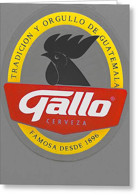 Cerveza Greeting Cards - Gallo Cerveza of Guatemala Greeting Card by Bill Owen
