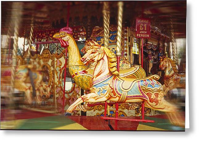 Galloper Greeting Cards - Gallopers Greeting Card by Charles Stuart