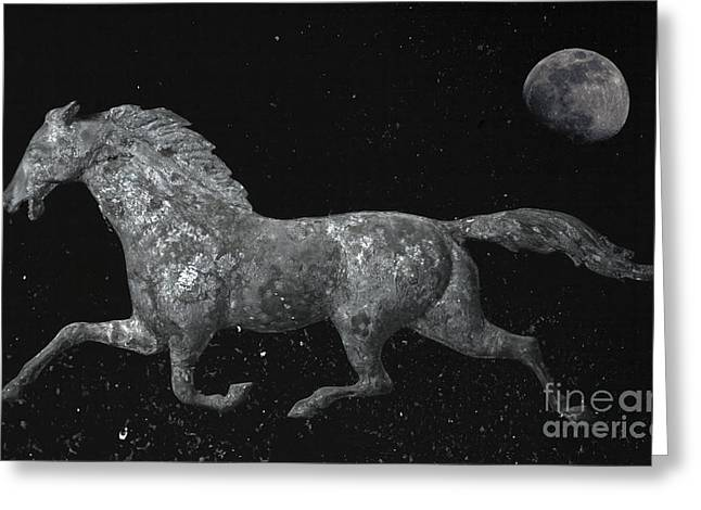Weathervane Photographs Greeting Cards - Galloping Through The Universe Greeting Card by John Stephens