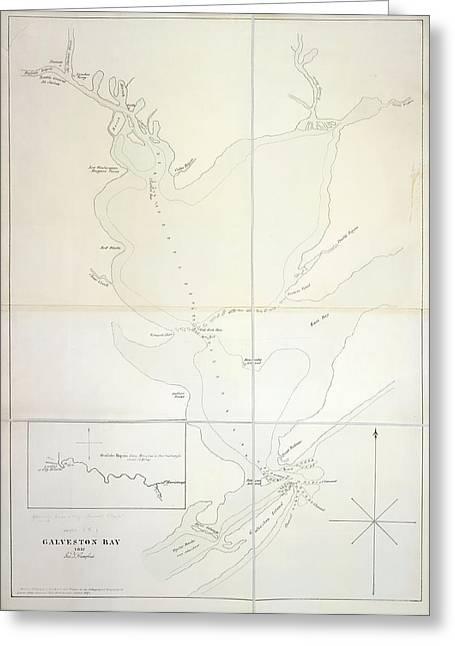 Galveston Bay Greeting Card by British Library